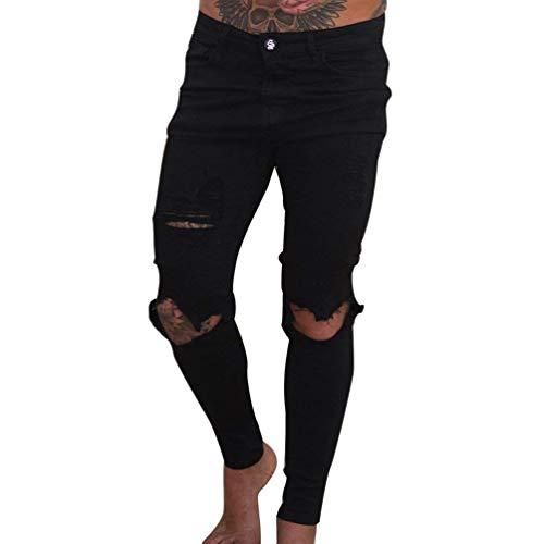 Jeans Distrutti Chiusura Abbottonatura Della Pantaloni Nero Metà Uomini Di Gli Marca Bolawoo Etero Vita Slim Beggar Mode Lavato wxSnBaqZC