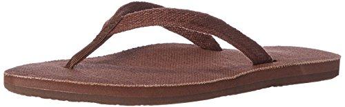 Rainbow Sandals Women's Single Layer Hemp w/Narrow Strap Black, Ladies 10/9.5-10.5 B(M) US, Brown, Ladies Medium / 6.5-7.5 B(M) - Hemp Single