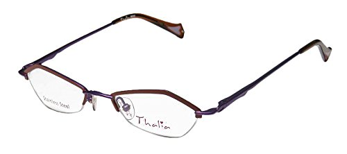 Thalia Beso Womens/Ladies Designer Half-rim Spring Hinges Eyeglasses/Eyewear (46-18-135, Brown / - Bottom Rim Glasses Half
