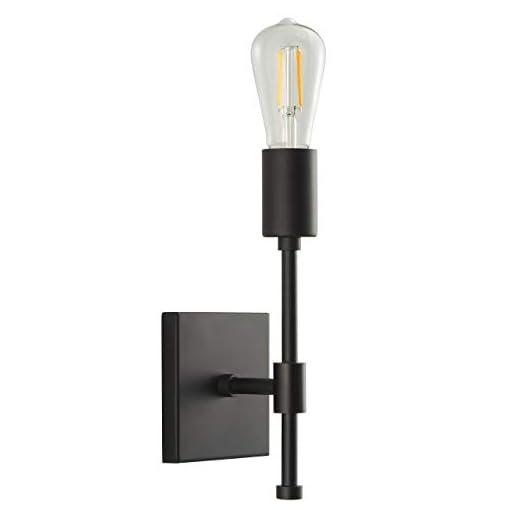 Farmhouse Wall Sconces Berbella Black Wall Sconce Lighting Fixture – Farmhouse Modern Sconce Bathroom Single Light with LED Edison Bulb… farmhouse wall sconces