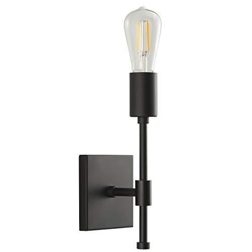 Berbella Bathroom Wall Sconce | Black Hallway Wall Light with LED Bulb ()