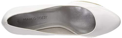 123 Marco 2 white 22440 Con Donna Patent Col 2 Scarpe Bianco Tozzi 22 Tacco Plateau 6rqHF6a