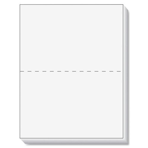 Wholesale CASE of 10 - Tops Laser Cut Sheet Paper-Laser Cut Paper,20lb,5-1/2'',8-1/2x11, 84 GE, 500SH/PK, WE by TOP