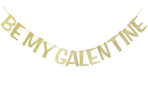 Be My Galentine Banner for Valentines Day Party Decorations Valentine Sign Valentines Day Photo Prop (Gold Glitter)