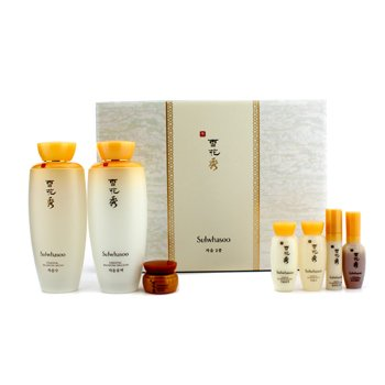 [Sulwhasoo] Essential Balancing Water(125ml) + Essential Balancing Emulsion(125ml) + 5 Free Sample(46.5ml) Set