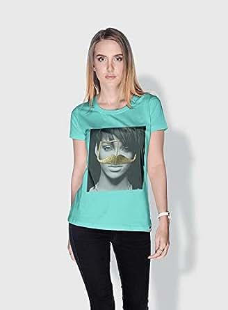 Creo Rihanna 3Araby T-Shirts For Women - S, Green