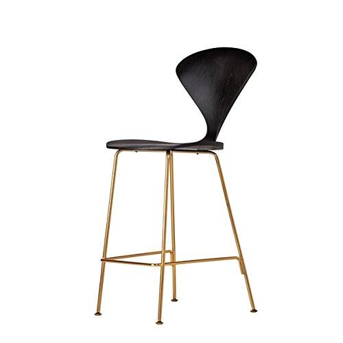 Design Tree Home Satine Bastille Black Seat Counter Stool in Champange Gold