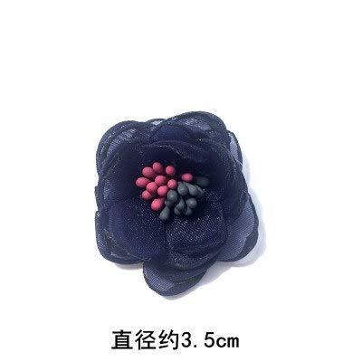 Lace Crafts - 10Pcs/Lot 3D Cloth Flower Yarn Beaded Lace Patch Denim Clothes Wedding Dress Leather Bag Headwear DIY Applique Accessories - (Color: 232)