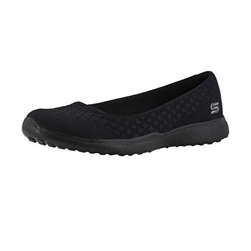Skechers Sport Women's Microburst One up Fashion Sneaker,Black,9 M US