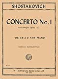 Concerto No. 1, Op. 107 By Dmitri Shostakovich. Edited By Rostropovich. For Cello and Piano Accompaniment. 20th Century. Difficulty: Difficult. Instrumental Solo Book. Composed 1959.