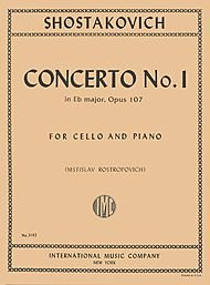 20th Century Concertos (Concerto No. 1, Op. 107 By Dmitri Shostakovich. Edited By Rostropovich. For Cello and Piano Accompaniment. 20th Century. Difficulty: Difficult. Instrumental Solo Book. Composed)