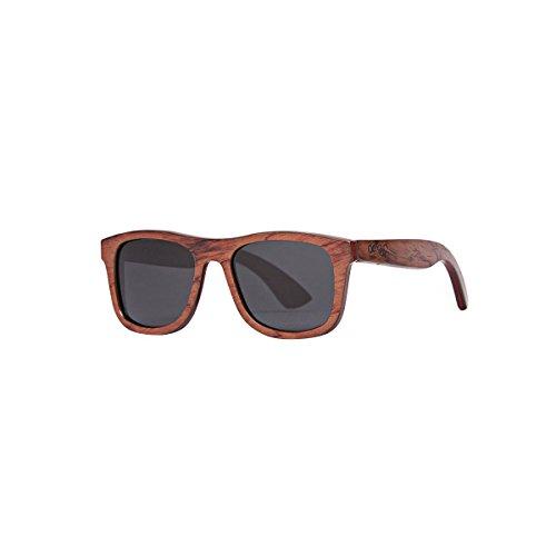 Proof Eyewear Unisex Ontario Pear Skate Wood Sunglasses Handcrafted Water Resistant,  Pear,  52 mm