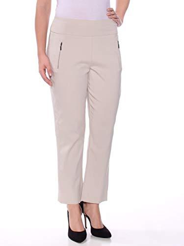 INC Womens Regular Fit Cropped Straight Leg Pants Beige 6