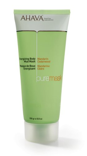 AHAVA Pure Spa Energizing Body Mud Mask, Mandarin - Cedarwood, 8.8 oz.
