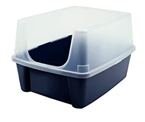 IRIS Open-Top Cat Litter Box with Clear High-Shield without Scoop Navy  sc 1 st  Amazon.com & Amazon.com : IRIS Open-Top Cat Litter Box with Clear High-Shield ... Aboutintivar.Com