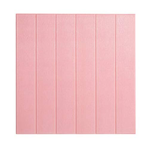 (AOGHO Seal Strip, Rubber Weatherstrip Decorative Strip 5pcs 3D Wall Sticker, Wood Grain self-Adhesive Paper Wallpaper,Pink,7070cm)