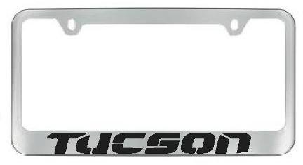 Hyundai Tucson Chrome License Plate Frame with 2 free caps -