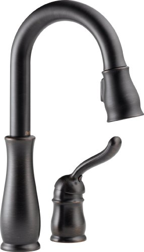 Delta Kitchen Faucets Bar - Delta Faucet Leland Single-Handle Bar-Prep Kitchen Sink Faucet with Pull Down Sprayer and Magnetic Docking Spray Head, Venetian Bronze 9978-RB-DST