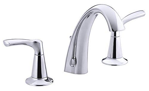 Chrome Lavatory Faucet 2h (KOHLER R37026-4D1-CP 2H CH WS LAV FAUCET)