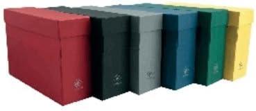 Mariola 16895 - Caja transferencia cartón forrado en Geltex folio doble lomo 390 x 255 x 110 mm, color verde: Amazon.es: Oficina y papelería