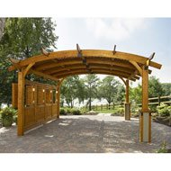 Outdoor GreatRoom Company Sonoma Mocha Arched Wood 16' x 16' Pergola 16' ()