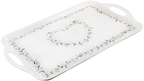 Corelle Coordinates by Reston Lloyd Melamine Rectangular Serving Tray with Handles, Country ()