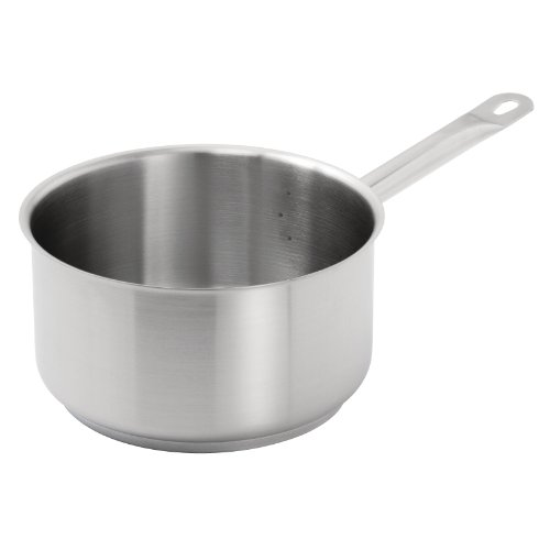 Vogue Stainless Steel Saucepan 100X200mm Cookware Casserole Cool Grip Handle Nisbets 13044