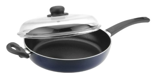 Caroni A271928 Chicken Fryer with Glass Lid, 11.11-Inch, Blu