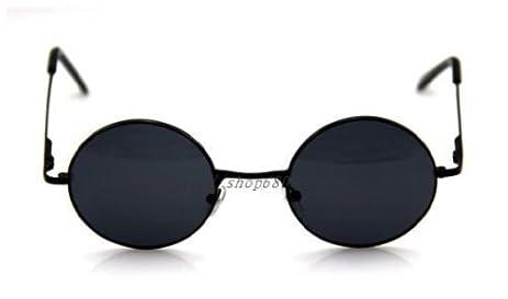 Round glasses retro black glasses black sunglasses John Reno wind Yoko Ono wind UV cut cosplay (japan import) AtAlJEBq
