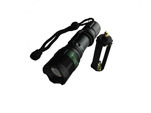 PhotonDynamic 800 Lumen Handheld Flashlight Led Cree Xml- T6 Water Resistant Camping Torch Adjustable Focus Zoom Tactical Light Lamp for Outdoor Sports.