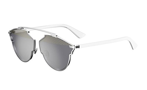 New Christian Dior SO REAL 85L/DC STUDS white/silver mirror Sunglasses