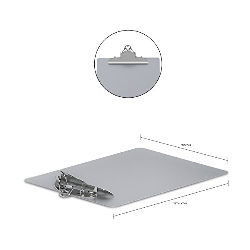 Metal Clipboard Paper Holder Letter Size-Highest Quality File A4 Aluminum Holder for Office Business Steel clipboard by SUNNYCLIP (Image #3)'