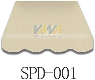 Tenda da sole a tessuto telo tenda in tessuto di alta qualit/à con volant 3/x 2/m spd001/Beige