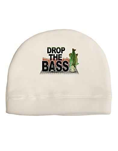 TooLoud Drop The Bass Fish Adult Fleece Beanie Cap Hat White