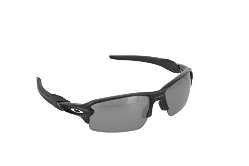 Oakley Men's Flak 2.0 Polarized Iridium Rectangular, Polished Black, 59 mm ()