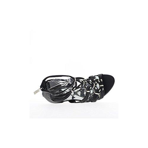 Sandales femme noires à talons de 11cm et plateforme de 3,5cm