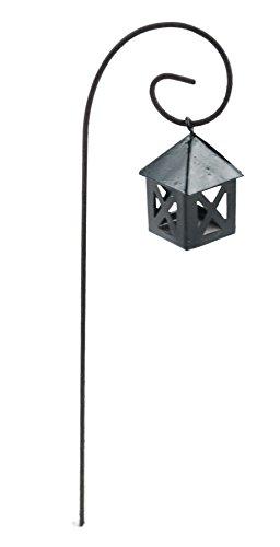 Touch Of Nature 1-Piece Miniature Garden Hanging Lantern, 7-Inch, Black -
