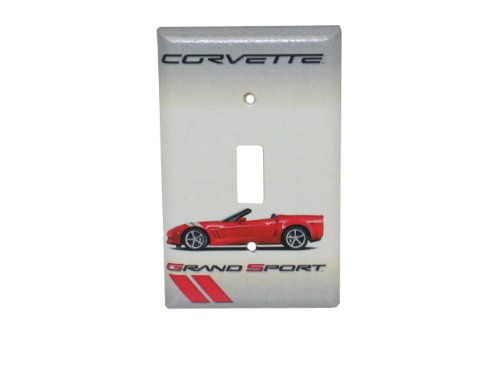 (Corvette Switchplate Red Grand Sport Convertible Single Light)