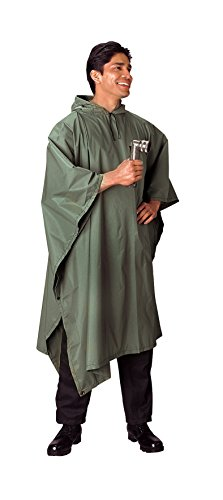 (Rothco G.I. Type Military Rip-Stop Poncho, Olive Drab)