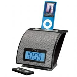 iHome iH11 Black Alarm Clock For iPod With AM/FM Tuner