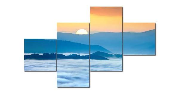 Top imagen sobre lienzo 4 imágenes Número de Referencia m41283 Foggy Valley moderna imágenes enmarcado sobre auténtico bastidor. Enmarcado como imagen sobre Marco. Menos Que Pintura al óleo Póster Cartel con marco