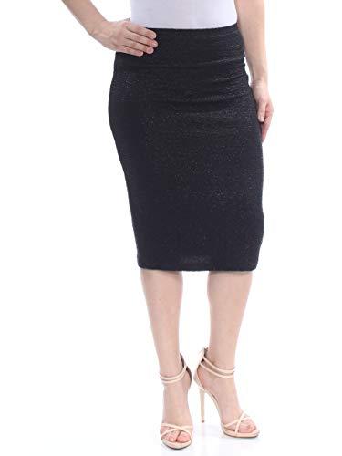 Bar III Textured Metallic Pencil Skirt