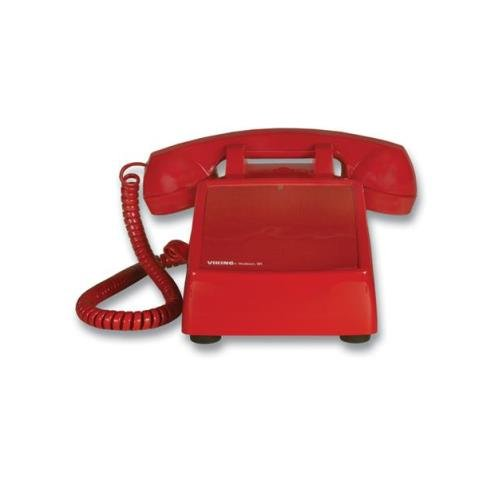 Viking Electronics VK-K-1500P-D No Dial Desk Phone - Red - NEW - White Box - VK-K-1500P-D (Electronics Red Dial No Viking)