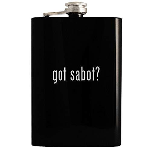 Shockwave Sabots (got sabot? - 8oz Hip Drinking Alcohol Flask, Black)