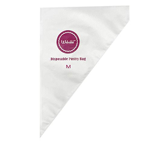 Webake 14 Inch Disposable Pastry Bag Icing Piping Frosting Bags for Cake Decorating 100 Pcs (Medium)