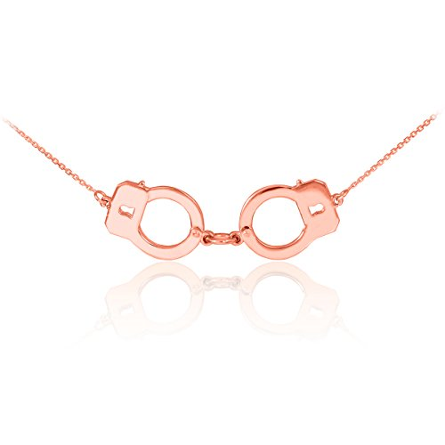 14k Rose Gold Handcuff Necklace (22 Inches)
