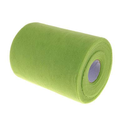 FidgetFidget - Tul para Papel de Regalo, para Manualidades, Bodas o Fiestas, 15,24 cm, Verde césped