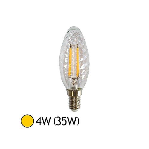 Ampoule Led 4W (35W) E14 Filament Flamme Torsadée Blanc chaud 2700°K