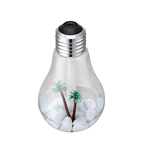 Yu2d  Lamp Humidifier Home Aroma LED Humidifier Air Diffuser Purifier Atomizer(Silver)]()