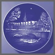 1991 Bing & Grondahl Christmas Plate - Stock Exchange by Bing & Grondahl